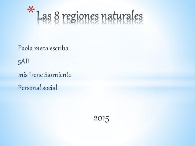 Paola meza escriba 5AII mis Irene Sarmiento Personal social 2015 *
