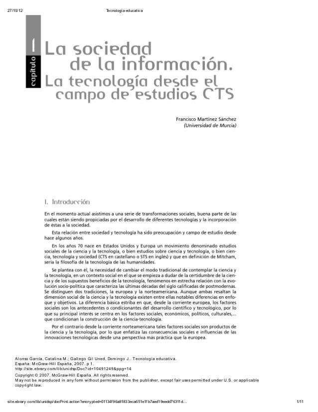 27/10/12                                              Tecnología educativ a    Alonso García, Catalina M.; Gallego Gil Une...