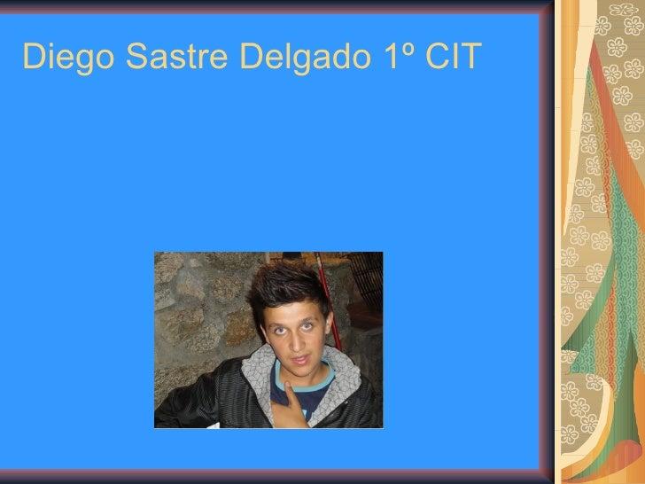 Diego Sastre Delgado 1º CIT