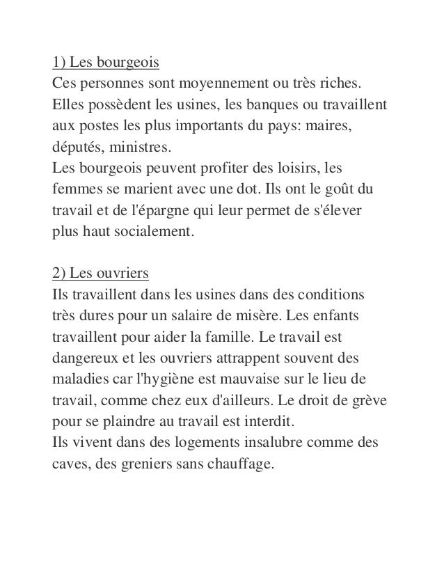 La Societe Francaise En 19eme Siecle