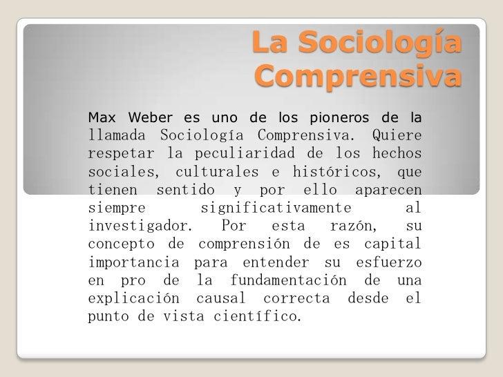 La sociología comprensiva Slide 2