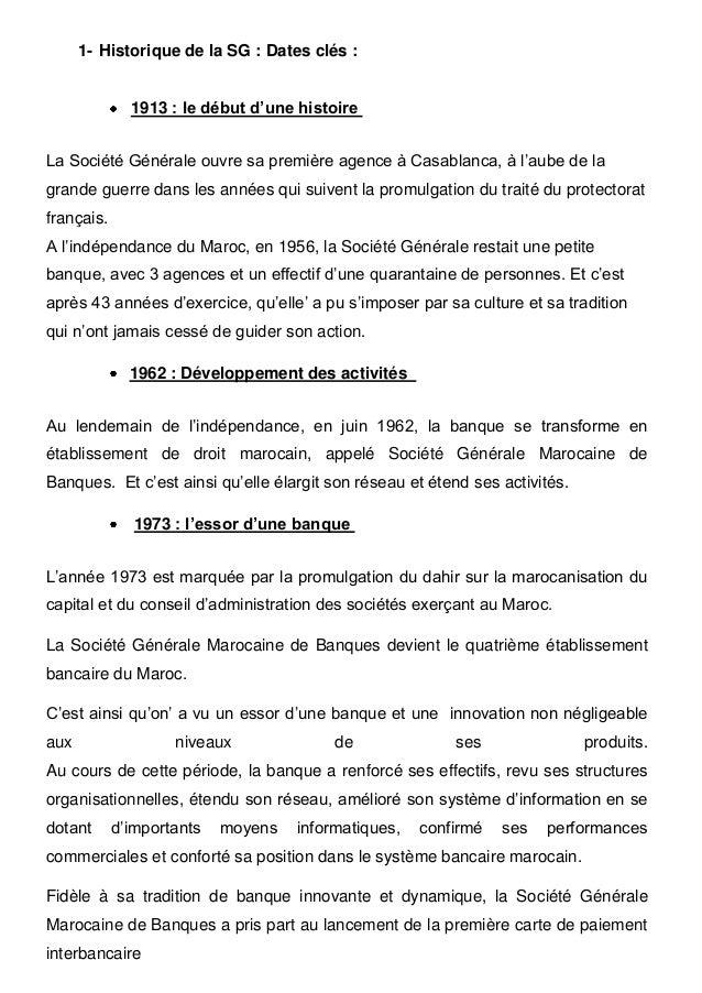 Rapport De Stage La Societe Generale Marocaine De Banques Scmb