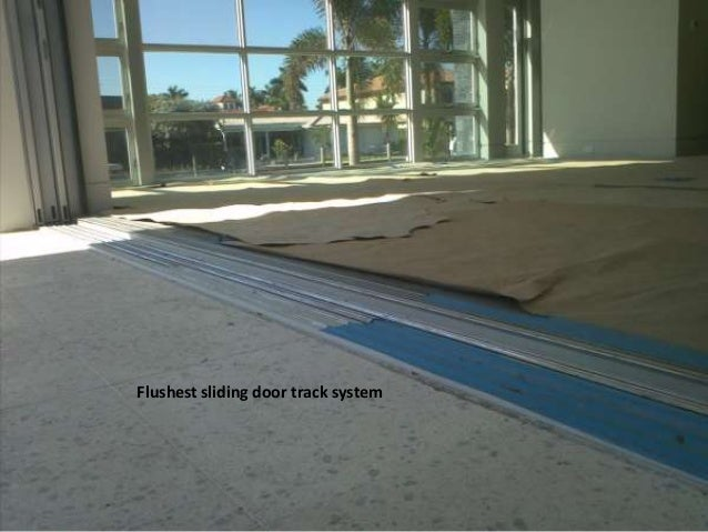 Track U0026 FrameDetailCentor ScreenInside Of SGDFlush WithInterior Floor; 12.
