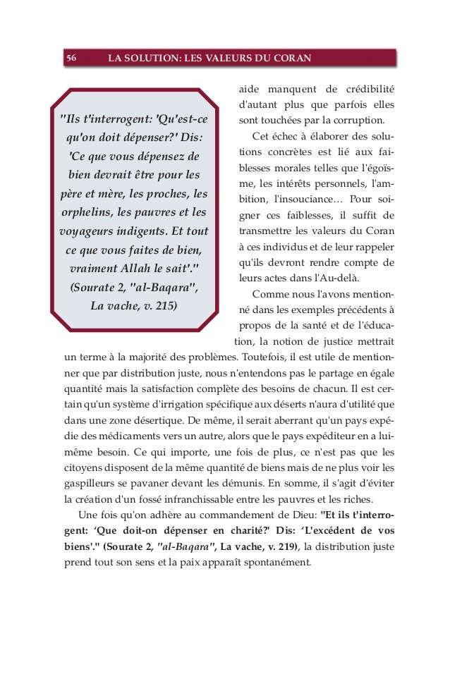 la solution les valeurs du coran french fran ais. Black Bedroom Furniture Sets. Home Design Ideas