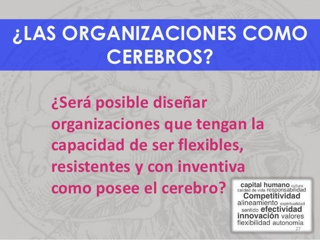 ¿LAS ORGANIZACIONES COMO CEREBROS? ¿Será posible diseñar organizaciones que tengan la capacidad de ser flexibles, resisten...