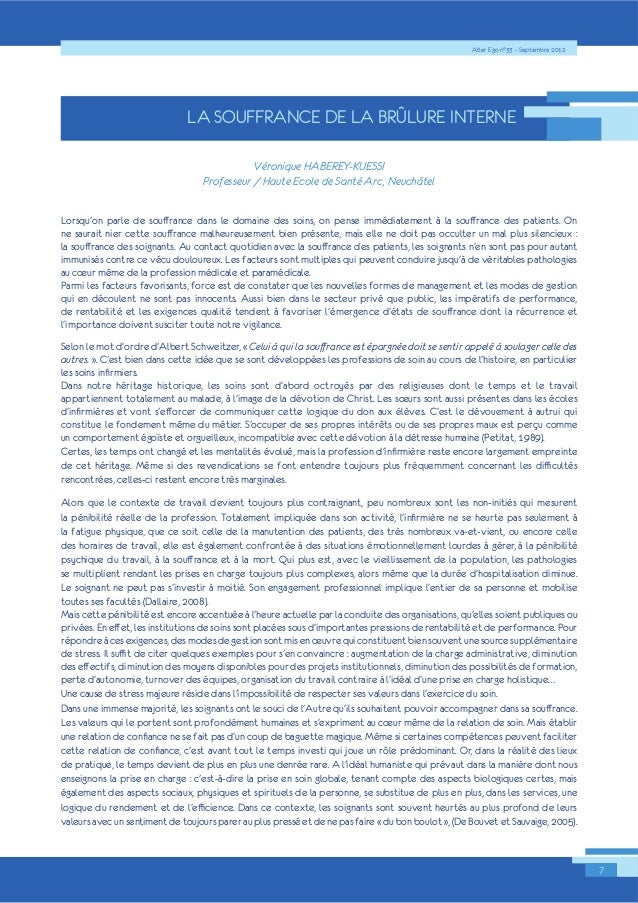 Alter Ego n°33 – Septembre 2012  7  LA SOUFFRANCE DE LA BRÛLURE INTERNE  3URIHVVHXU9Ì+UDRXQWLTHX(HF+RO$H%G(H56(DQW.Ì8$(6U6...