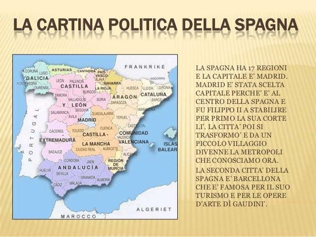 Cartina Citta Spagna.La Spagna