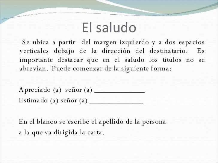 formato de cartas formales