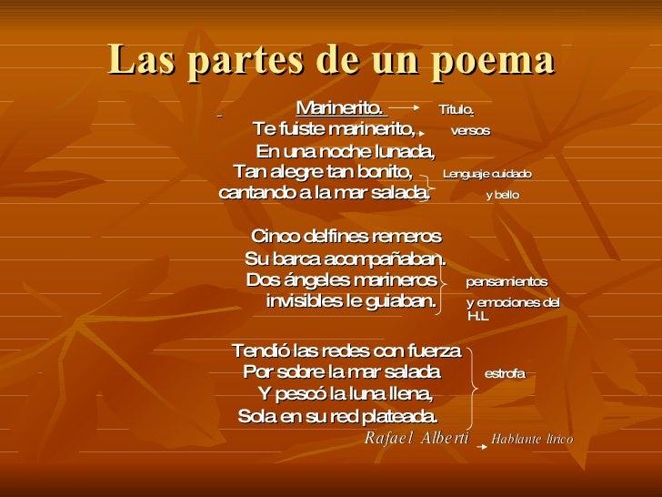 Las Partes De Un Poema