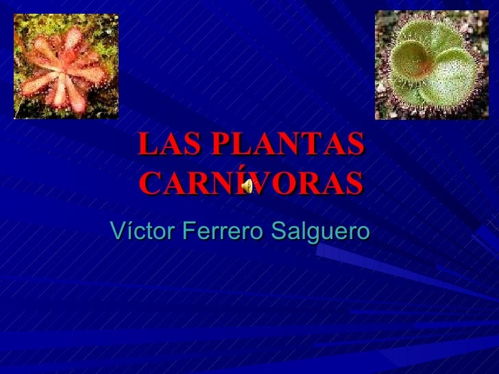 LAS PLANTAS CARNÍVORAS Víctor Ferrero Salguero