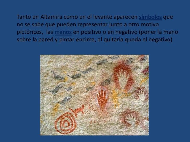 CARACTERÍSTICAS COMUNES del área cantábrica y del levantina:<br />TÉCNICA<br />El artista de Altamira graba primero sobre ...