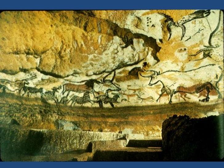 Vista de las pinturas del interior de Lascaux ( 15,000-13,000 A.C,)<br />