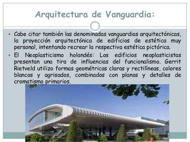 Las primeras vanguardias del siglo xx for Arquitectura definicion