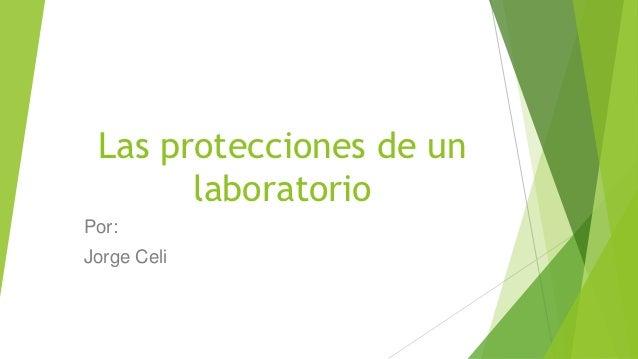 Las protecciones de un       laboratorioPor:Jorge Celi