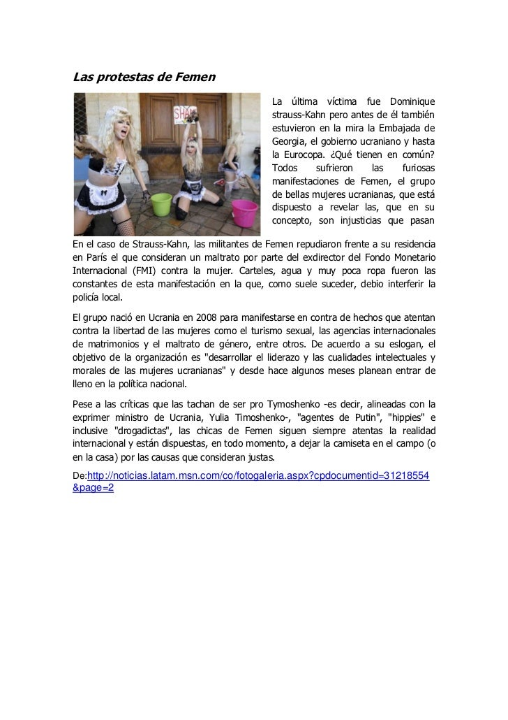 Las protestas de Femen                                               La última víctima fue Dominique                      ...