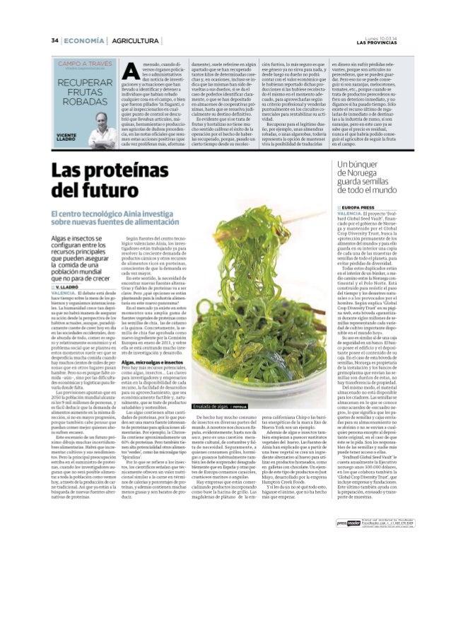Las provincias    las proteínas del futuro -10 marzo ainia