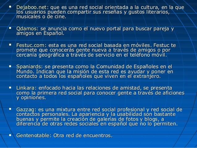 Redes sociales para conocer gente en espanol