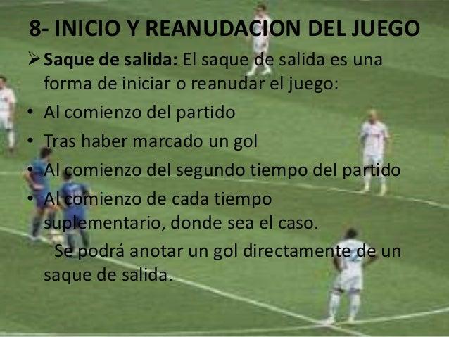 Las reglas del futbol for Cuando es fuera de lugar en un partido de futbol