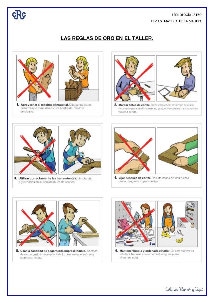 Las reglas de oro en el taller - El taller de pinero ...