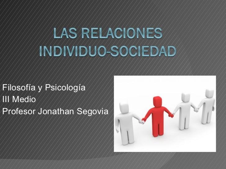 Filosofía y Psicología III Medio Profesor Jonathan Segovia