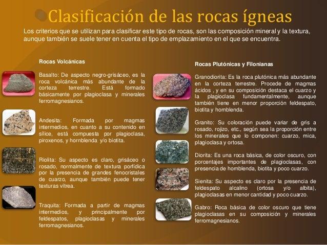 Las rocas gneas for Marmol caracteristicas y usos