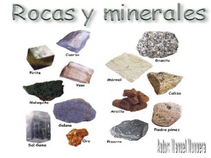 Las rocas y los minerales manuel for Materiales que componen el suelo