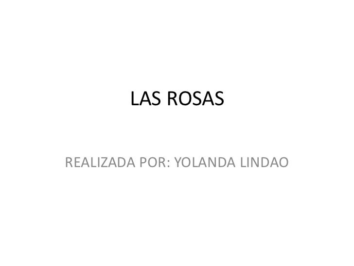LAS ROSASREALIZADA POR: YOLANDA LINDAO