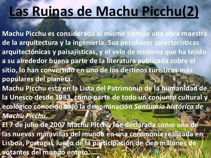 Las ruinas de machu picchu for Arquitectura quechua