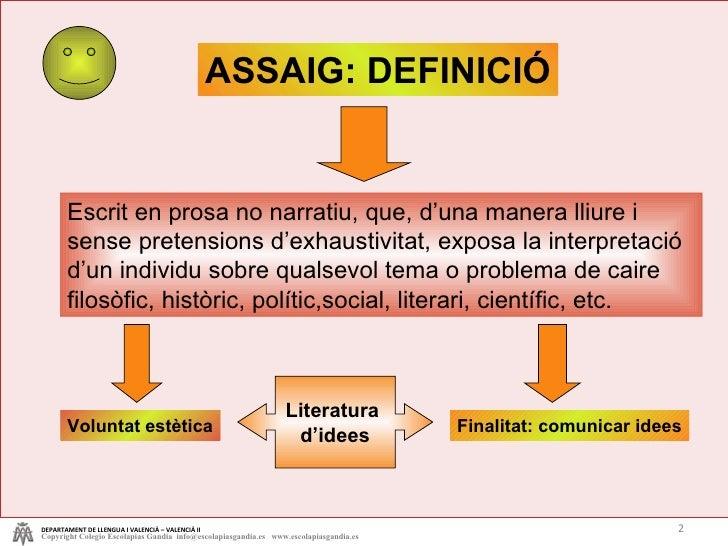 L'assaig   tema 4 Slide 2