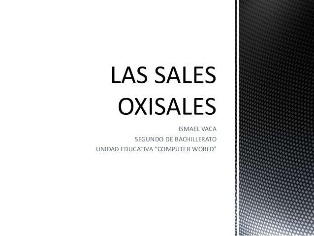 "ISMAEL VACA SEGUNDO DE BACHILLERATO UNIDAD EDUCATIVA ""COMPUTER WORLD"""