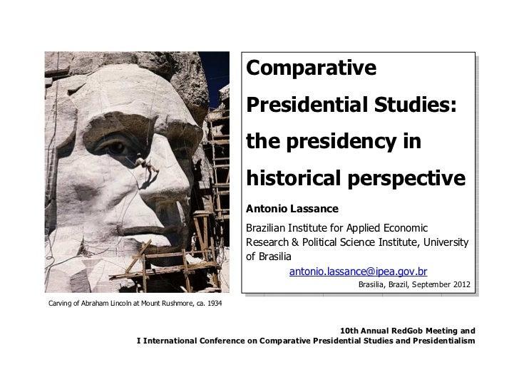 Comparative                                                         Presidential Studies:                                 ...