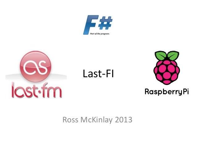 Last-FI Ross McKinlay 2013
