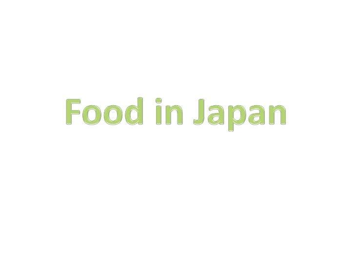 Food in Japan<br />