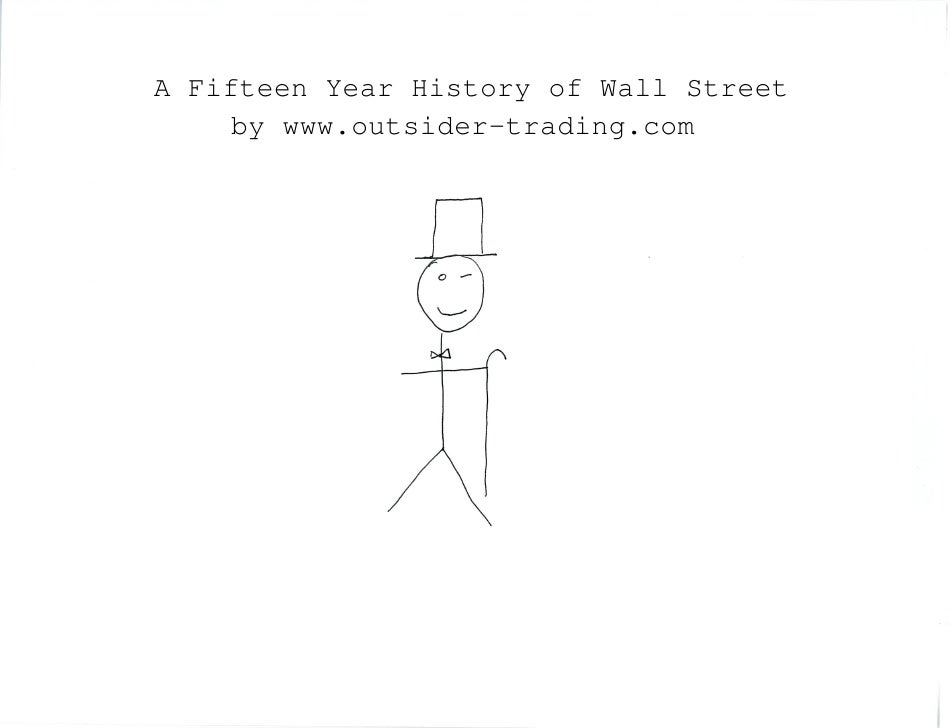A Fifteen Year History of Wall Street     by www.outsider-trading.com