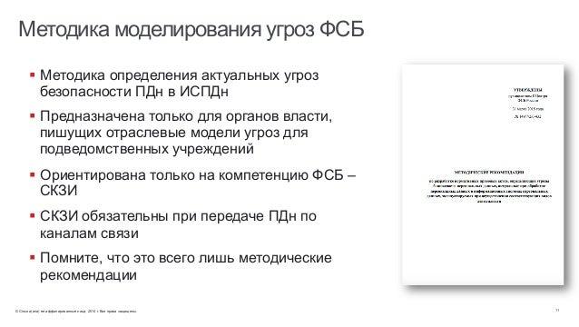 © Cisco и(или) ее аффилированные лица, 2014 г. Все права защищены. 11 Методика моделирования угроз ФСБ § Методика опреде...