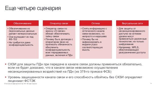 © Cisco и(или) ее аффилированные лица, 2014 г. Все права защищены. 31 Еще четыре сценария § СКЗИ для защиты ПДн при пере...