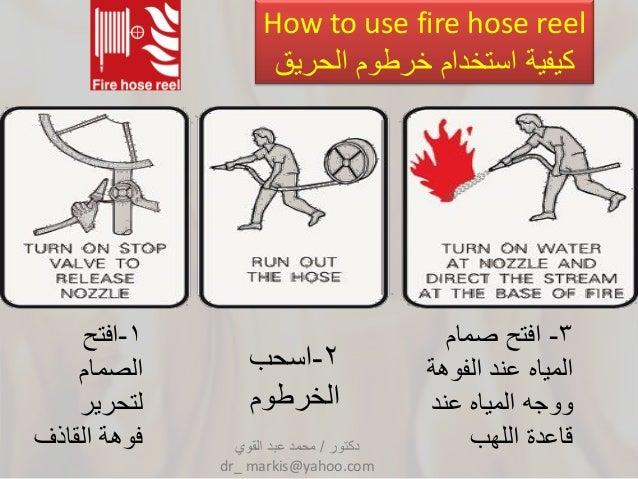 الحرائق وكيفية مكافحتهاlast Doc