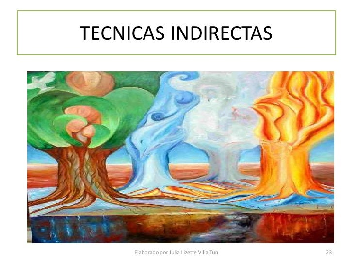 TECNICAS INDIRECTAS          Elaborado por Julia Lizette Villa Tun   23