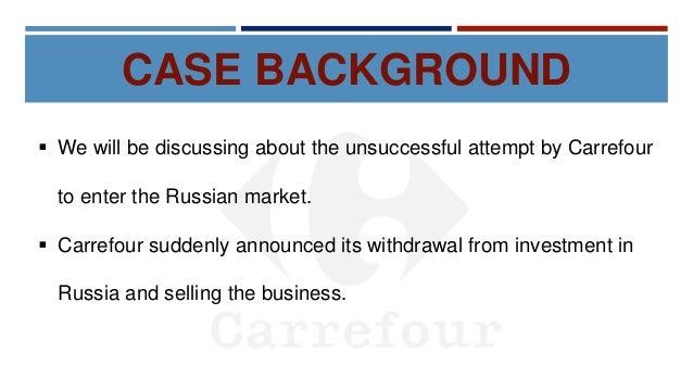 Carrefour Misadventure in Russia - Case Study Presentation Slide 3