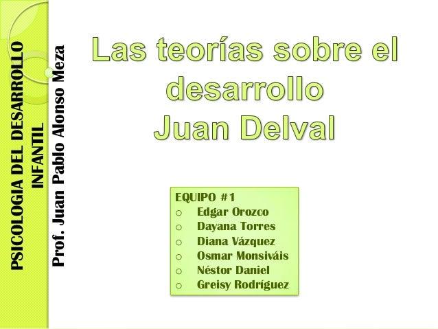 PSICOLOGIA DEL DESARROLLOProf. Juan Pablo Alonso Meza          INFANTIL                               EQUIPO #1           ...