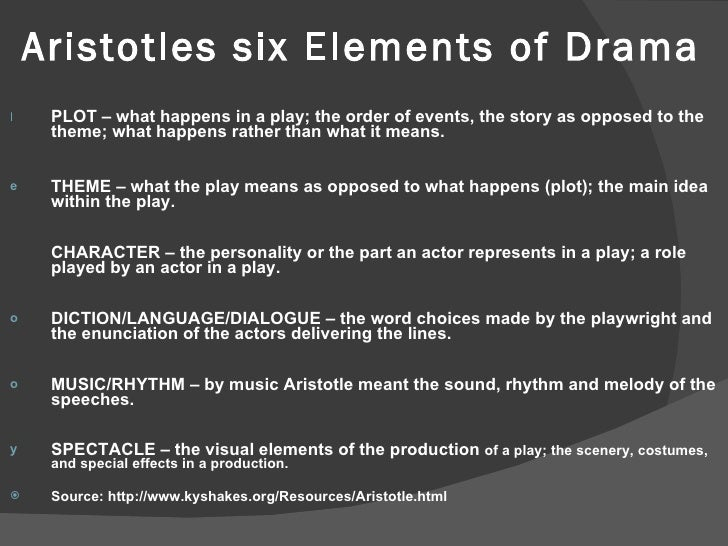 essential elements of drama Dramatic literature: elements of drama such as mime and melodrama's elements of essential theatre should not be ignored by those interested in drama as a.