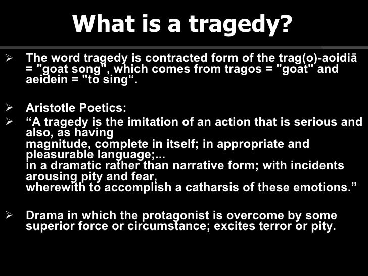 An analysis of the tragedy themes in aristotles poetics