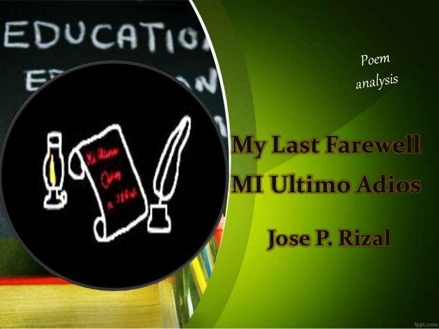 Poem: Mi Ultimo Adios by Jose Rizal