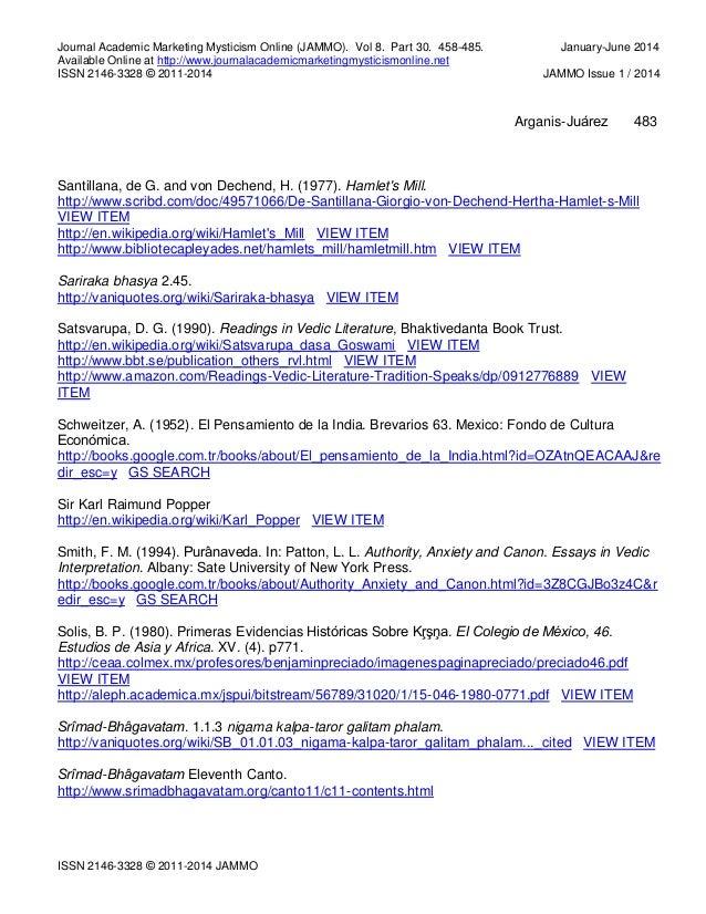 Master of Arts Thesis Summary Part 1 Instituto Bhaktivedanta de Cie