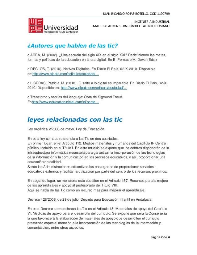 JUAN RICARDO ROJAS BOTELLO. COD 1190799                                                                 INGENIERIA INDUSTR...