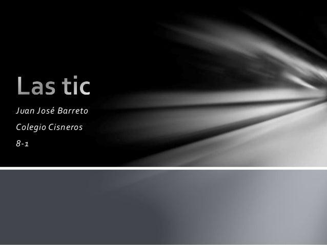 Juan José Barreto Colegio Cisneros 8-1