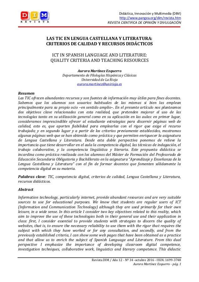 Didáctica, Innovación y Multimedia (DIM) http://www.pangea.org/dim/revista.htm REVISTA CIENTIFICA DE OPINIÓN Y DIVULGACIÓN...