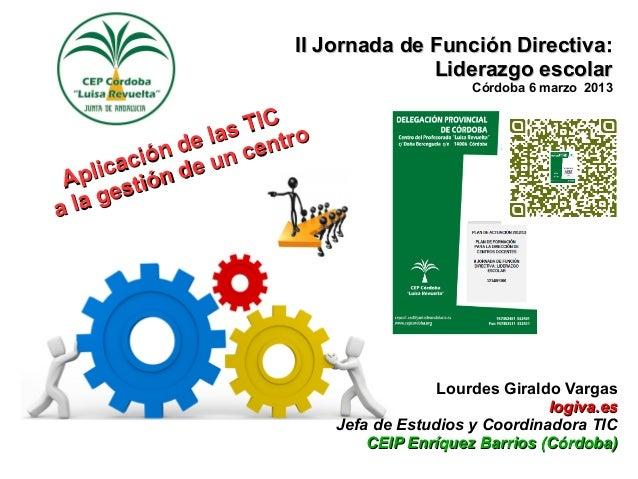 II Jornada de Función Directiva:                                       Liderazgo escolar                                  ...