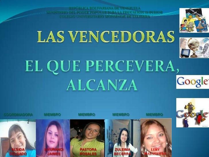 REPÚBLICA BOLIVARIANA DE VENEZUELA<br />MINISTERIO DEL PODER POPULAR PARA LA EDUCACIÓN SUPERIOR<br />COLEGIO UNIVERSITARIO...