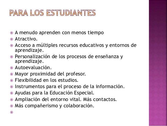  Fuente de recursos educativos para la docencia, la orientación y la rehabilitación.  Individualización. Tratamiento de ...